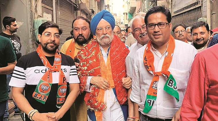 On the campaign trail Hardeep Singh Puri: With late-night meetings, handshakes, minister makes up for lost time
