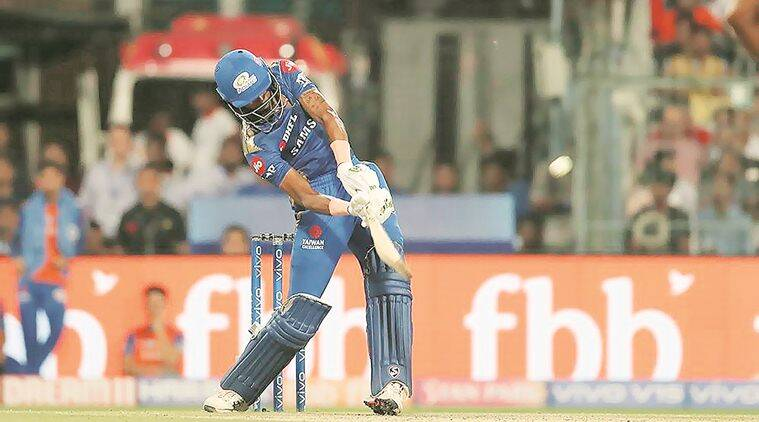 Technique wise: From a standing position deep inside crease, Hardik Pandya's version of 'helicopter shot'