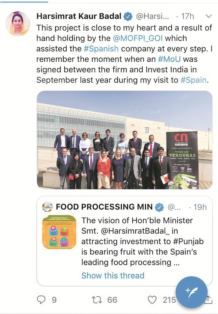 'Invest India' or 'Invest Punjab': Amid credit war between Amarinder, Harsimrat, stone of Rs 521-crore plant laid