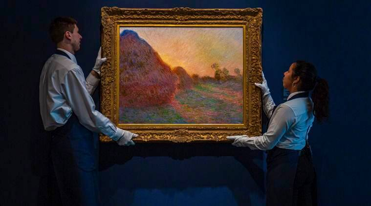 """Monet's painting, claude monet's painting, Claude Monet's """"Haystacks"""" series, Claude Monet's painting auctioned, world news"""