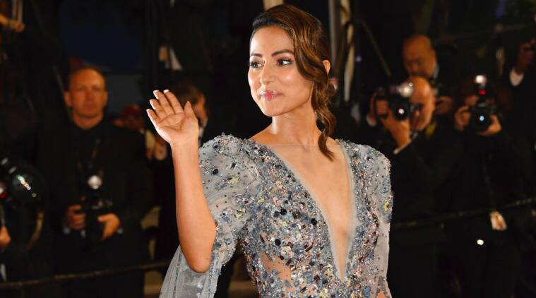 Hina Khan Launches Her Debut Film Poster Lines At Cannes!