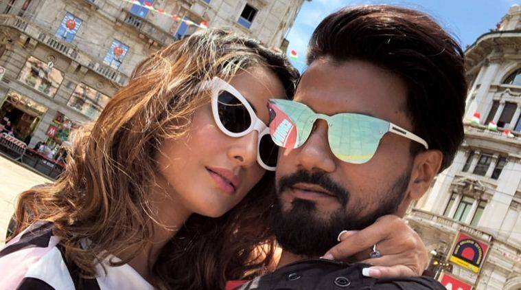After French Riviera, Hina Khan and Rocky Jaiswal are in Milan