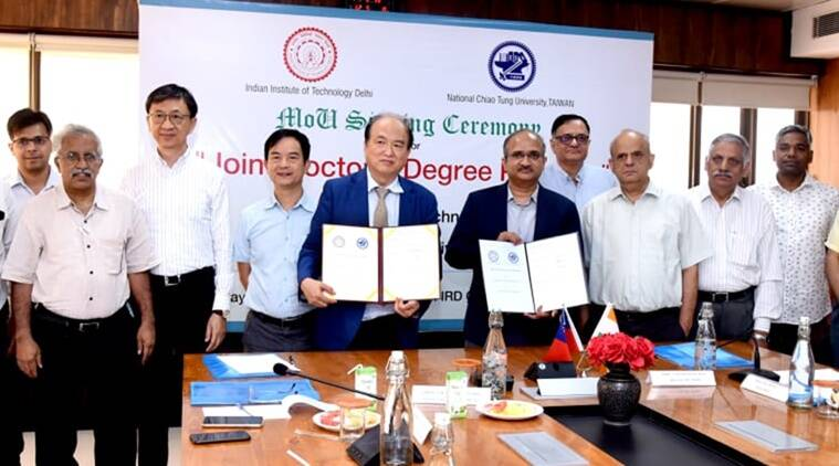 iit delhi, nctu taiwan, iit delhi nctu taiwan joint programme, iit nctu Ph.D programme, education news, indian express news