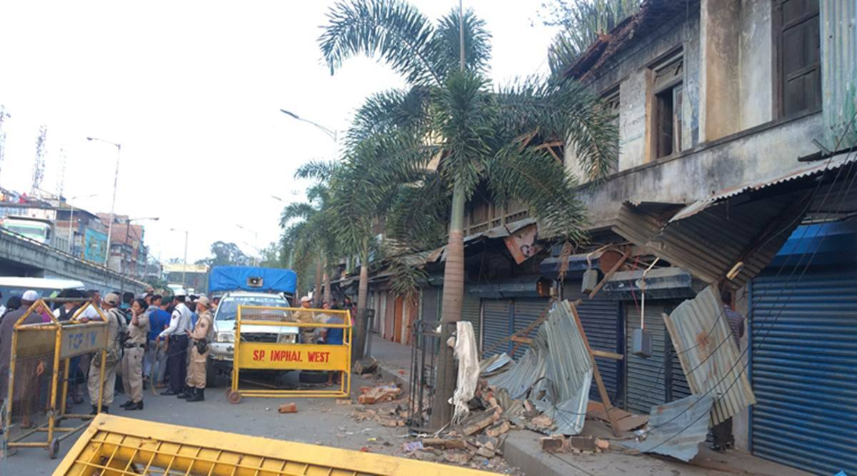 Manipur, manipur building collapse, imphal building collapse, building collapse in imphal city, bt road building collapse, old building collapse, dead in building collapse, indian express