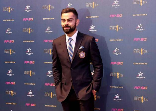 Indian cricket team captain Virat Kohli at the Indian Cricket Heroes event in London.