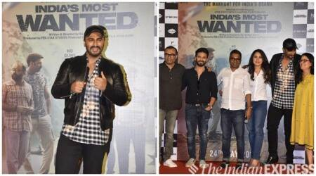 Indias Most Wanted trailer launch arjun kapoor