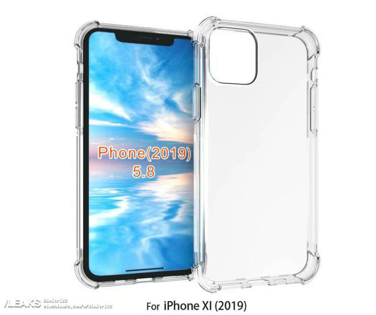 new concept 31c1b d8081 Apple iPhone XI case renders again hint at square-shaped camera bump ...