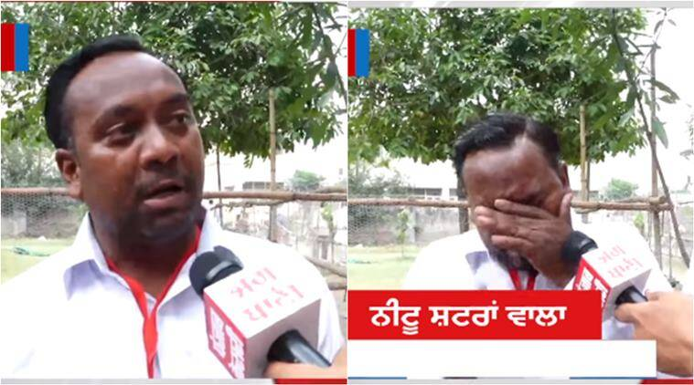 election results 2019, election results, lok sabha elections, jalandhar candidate cries, punjab candidate cries, man get less votes cry, viral video, funny video, indian express