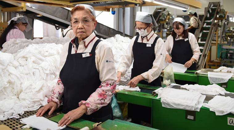 Japan, Japan Old workers, Japan old age people, Japan aging workforce, Japan aging workers, Japan news, Indian Express, World news
