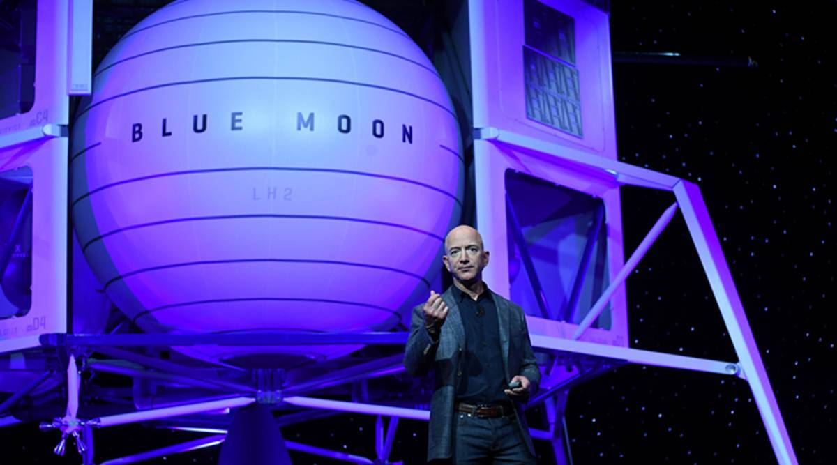 Jeff Bezos says Blue Origin will take the first woman to moon's surface thumbnail