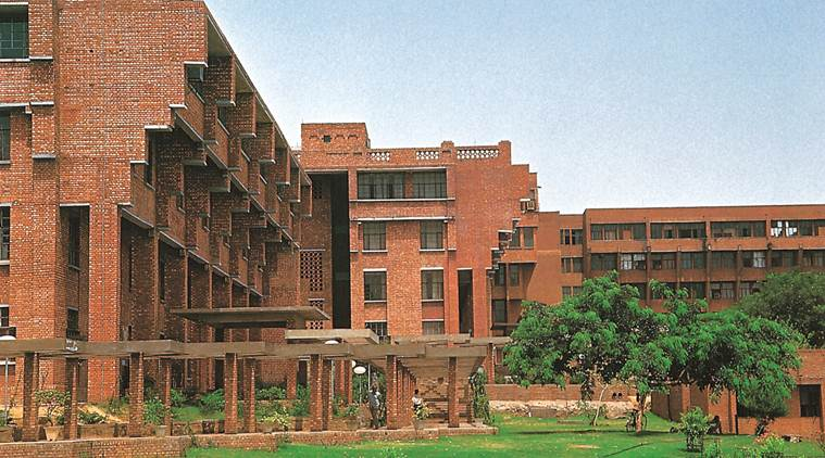 JNU, JNUSU, jawaharlal nehru university, School of International Studies campus entry