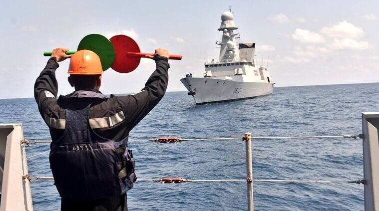Indo french navy joint exercise, indian navy, french navy, indo-french navy exercise, varuna 2019, indian navy in goa, french navy in goa, indian navy news, india news