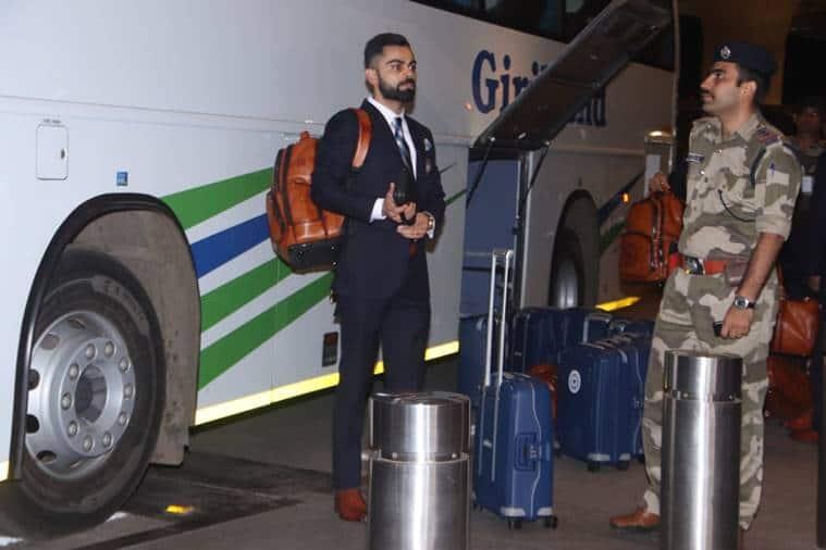 Virat Kohli at the Mumbai Airport