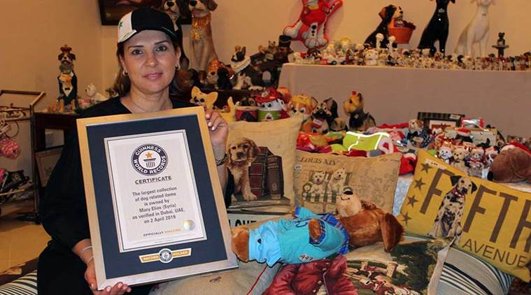 Mary Elias, Guinness World Record, love for dogs, largest collection of dog items, passion, Indian Express