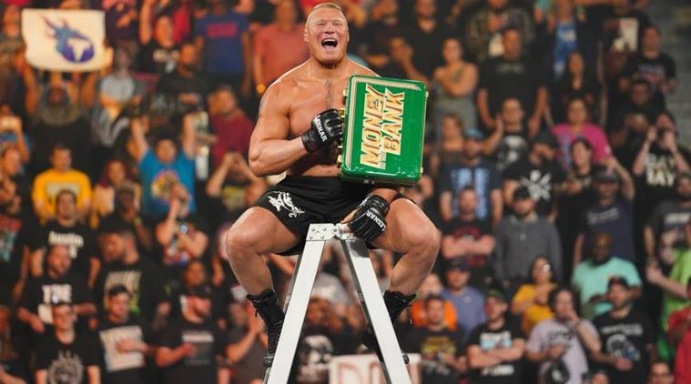 Brock Lesnar at WWE Money in the Bank match