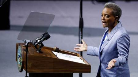 First black woman sworn in as Chicago mayor; vows big reforms