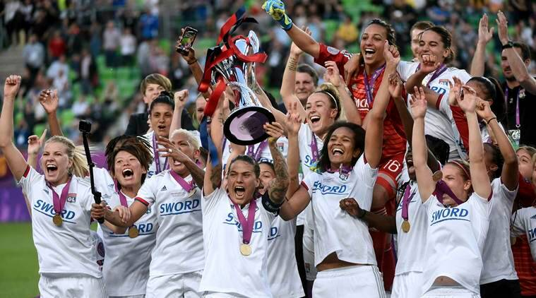 Lyon beat Barcelona 4-1 to win Women's Champions League