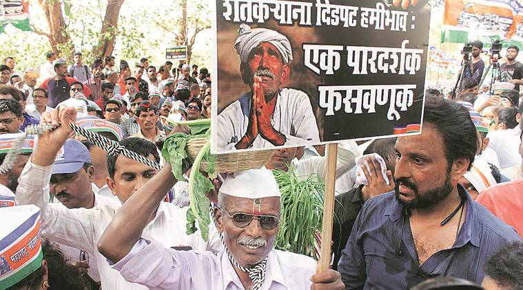 MNS holds farmers' demonstration, accuses BJP of 'exploitation'