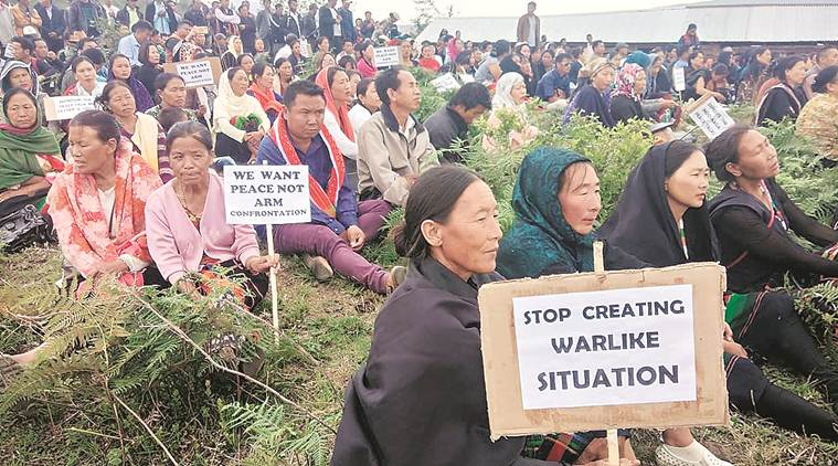 Manipur, assam rifles, manipur law and order, unauthorised camps in manipur, nort east news, indian express, india news, latest news