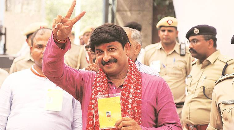 Delhi bjp, Delhi bjp meet, leaders missing from Delhi bjp, manoj tiwari, Delhi bjp chief, indian express