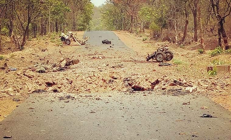 Gadchiroli maoist attack, Gadchiroli ied blast, gadchiroli naxal attack, maharashtra maoist attack, maharashtra day