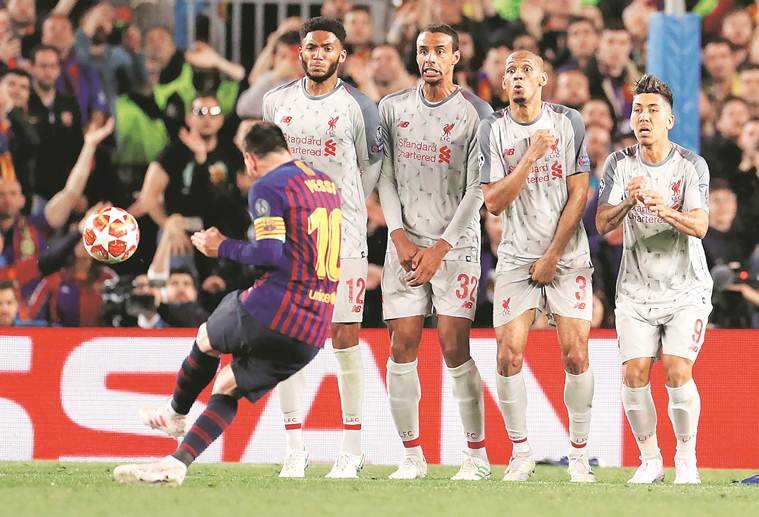 Anatomy of Lionel Messi's 35-yard free-kick against Liverpool