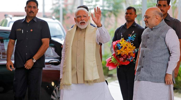 BJP headed for victory, PM Modi says India wins again