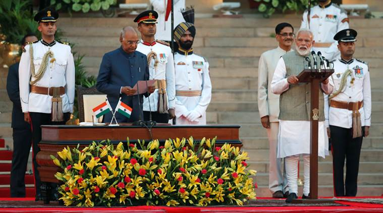 Narendra Modi takes oath as Prime Minister, council of ministers sworn in by President