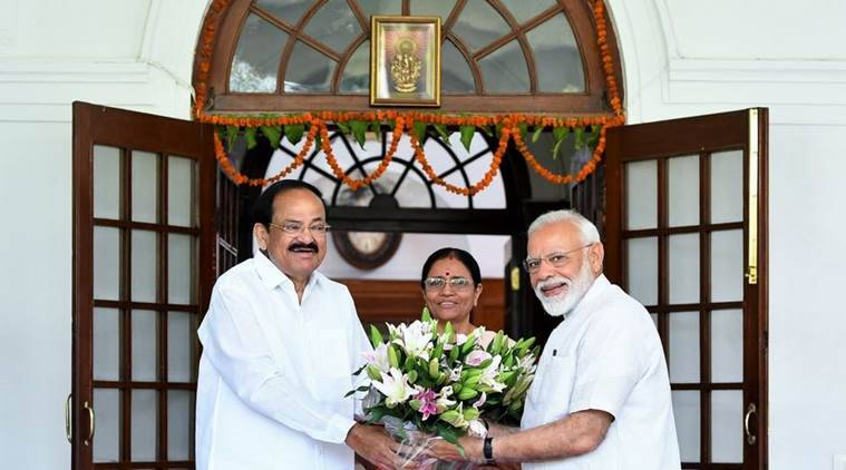 PM Modi calls on Vice President Naidu