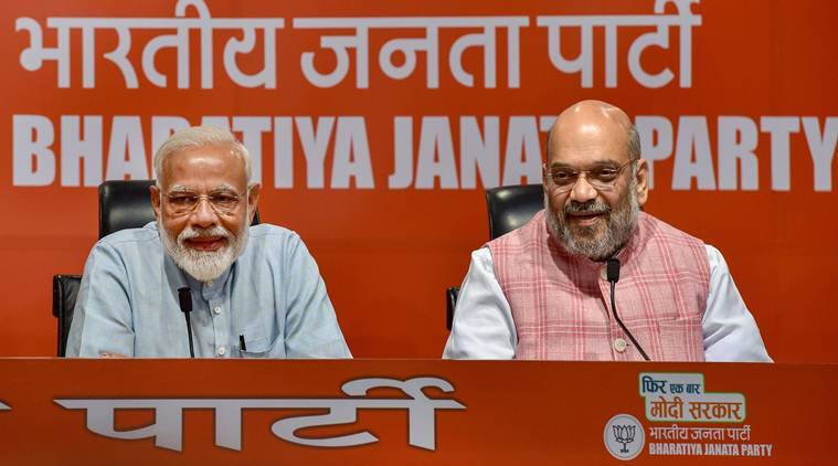 Lok Sabha elections 2019, Exit Polls, exit Poll results, Narendra Modi, Amit Shah, BJP, NDA allies meet, NDA, exit polls 2019, BJP exit polls, Modi second term,