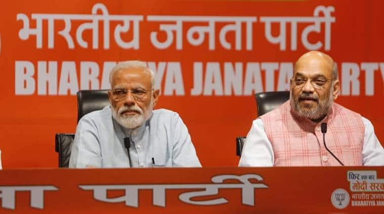 Narendra Modi, Narendra Modi press conference, Amit Shah press conference, Modi Shah press conference, Modi press briefing, Modi press conference, elections 2019,2019 lok sabha elections, indian express, latest news