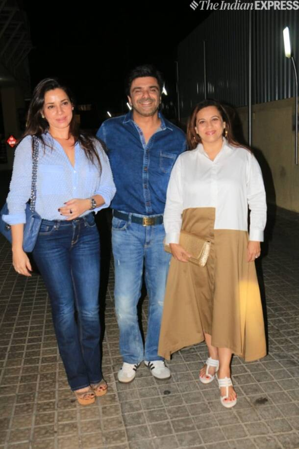 sameer soni and neelam at student of the year 2 screening