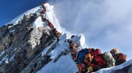mount everest. everest, mount everest nepal, first ascent of mount everest, first everest summit, nepal, edmund hillary, anniversari of first ascent everest, permits everest, cap permits everest, highest peak, indian express news