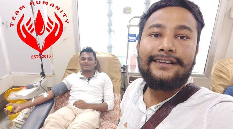 muslim man donates blood ramzan, man breaks fast donate blood, assam man breaks roza blood, muslim man donate blood hindu man, ramzan, ramadan, ramzan fasting, good news, assam news, indian express