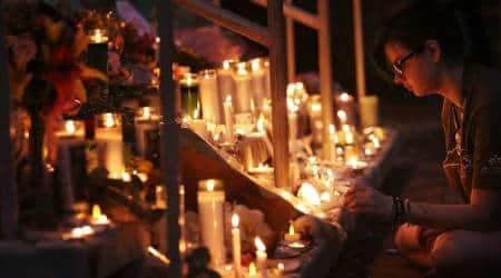 A vigil at the University of North Carolina