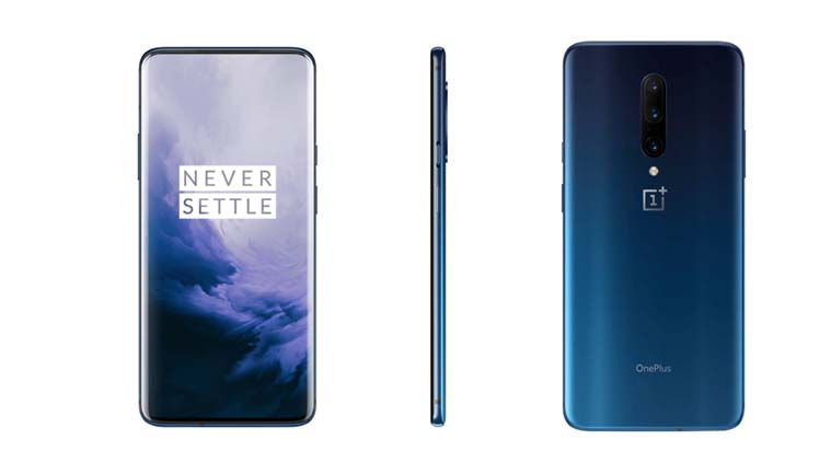 OnePlus 7 Pro image renders in blue, grey colour options