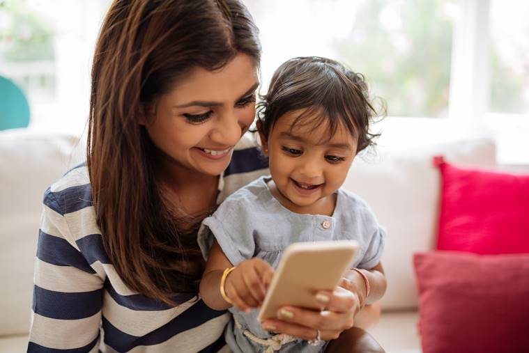 parenting trend, YouGov study, YouGov survey, young mothers, old mothers, Happy Mother's Day, smartphone, digital age, perils of digital age, cyberbulling, indianexpress.com, indianexpressonline, indianexpress, online support, parenting blogs, offline support, nuclear families, joint families, rearing kids, children in school, children at home, parents, young parents, hi-tech, technology, internet,