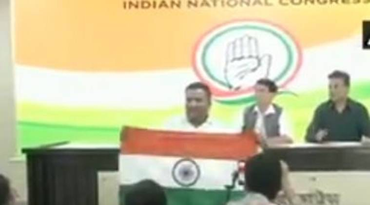 WATCH: Man interrupts Congress press conference for referring to Adityanath as 'Ajay Singh Bisht'