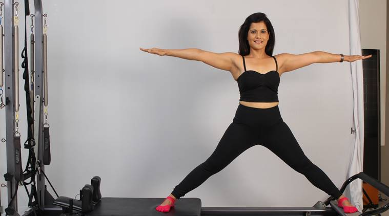 Postnatal Pilates exercise