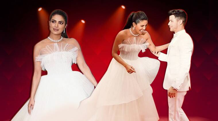 After her stunning appearance in a white Honayda jumpsuit, Priyanka Chopra Jonas disappoints in a white Georges Hobeika gown