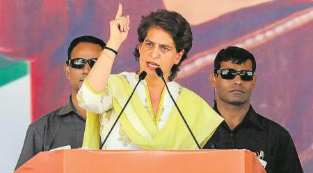 priyanka gandhi attacks modi, narendra modi, priyanka gandhi, jammu kashmir tension, article 370, congress-bjp, congress party, indian express, national news