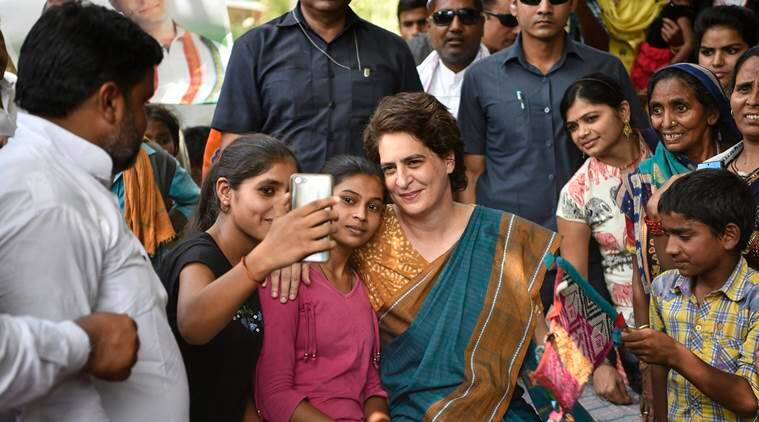 priyanka gandhi, lok sabha elections, election news, priyanka gandhi bjp abuse, UP children abuse, narendra modi, modi chowkidar, chowkidar chor he, priyanka bjp wrong slogan, child rights body, indian express news
