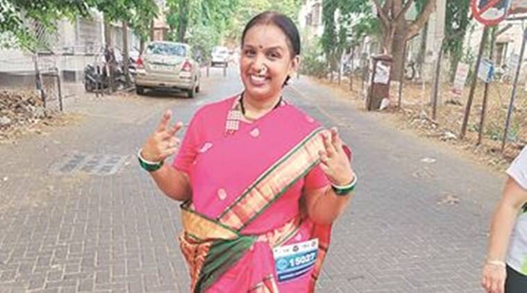 Pune woman runs marathon in saree