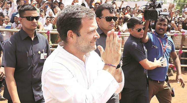 lok sabha elections, rahul gandhi, shivraj singh chouhan, rahul gandhi on Modi, narendra Modi election rally, rahul farm loan waiver, general elections, election news, decision 2019, lok sabha elections 2019, indian express