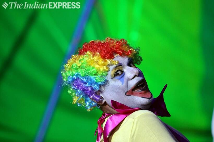 On a lighter note: Actor Ashish Vidyarthi dons a clown's role