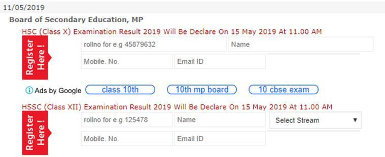 MP Board MPBSE 10th, 12th Result 2019 declared at www mpresults nic