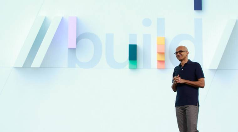 microsoft build 2019, microsoft, microsoft tools secure elections, us elections, microsoft secure us elections, microsoft software secure elections, satya nadella, technology new, indian express