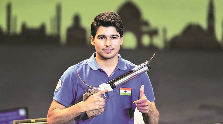 Saurabh Chaudhary, Saurabh Chaudhary asian games, ISSF world cup, Saurabh Chaudhary shooting, Saurabh Chaudhary gold, Saurabh Chaudhary ISSF world cup, sports news, indian express
