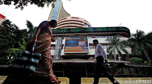 SENSEX, bse, nse, indian stock market, share prices, bse sensex, us dollar, exit polls, lok sabha elections 2019, business news, indian express