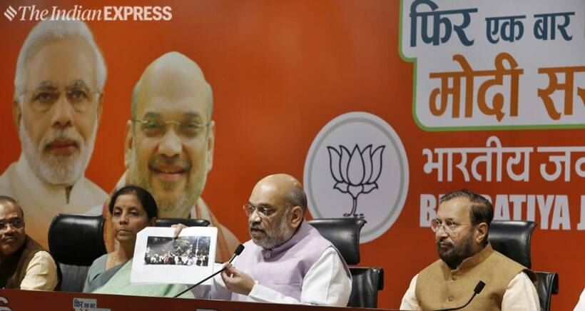 kolkata violence, bjp protest, cpi protest, amit shah, amit shah rally in kolkata, amit shah rally in kolkata today, amit shah rally in kolkata live, amit shah road show in kolkata, violence at amit shah road show, violence in kolkata, kolkata news, indian express